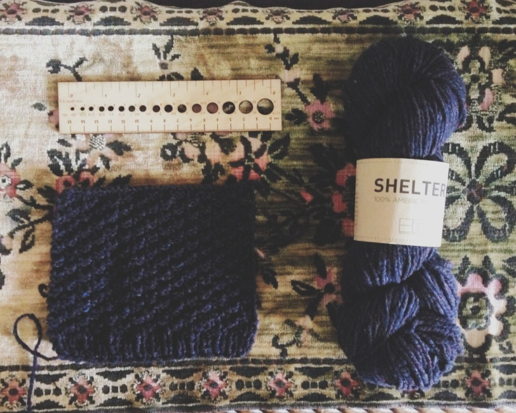 KAL knittingforhimalong brooklyn tweed swatch