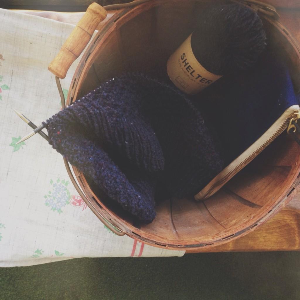 KAL knittingforhimalong brooklyn tweed fort sweater
